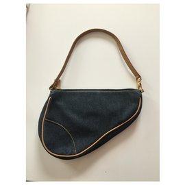 Dior-Saddle-Navy blue