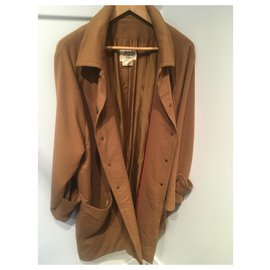 Hermès-Manteaux, Vêtements d'extérieur-Marron