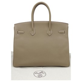 Hermès-HERMES BIRKIN bag 35 etoupe-Taupe
