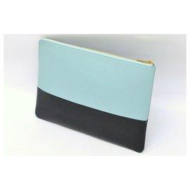 Céline-Céline Clutch Second Bag-Blue