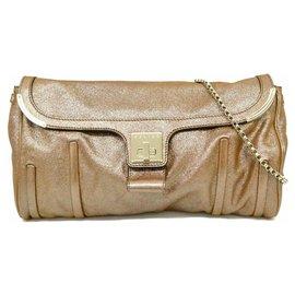 Céline-Celine Leather Shoulder Bag-Brown
