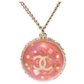 Chanel-Chanel Dome Necklace-Pink