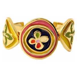 Louis Vuitton-Louis Vuitton Bracelet Monogram Fleur-Jaune