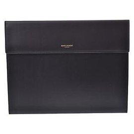 Yves Saint Laurent-Yves Saint Laurent Classique Leather-Noir