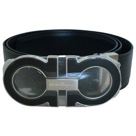 Salvatore Ferragamo-Salvatore Ferragamo Suede leather belt-Brown