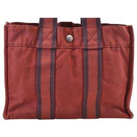 Hermès-Hermès Fourre Tout-Red