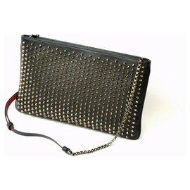 Christian Louboutin-Christian Louboutin Studs Leather Bag-Noir