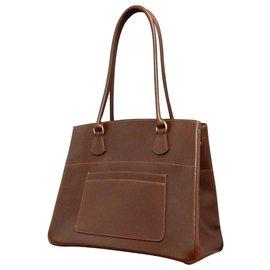 Hermès-Hermès Vintage Shoulder Bag-Brown