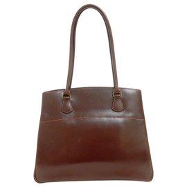 Hermès-Hermès Vintage Sac à bandoulière-Marron