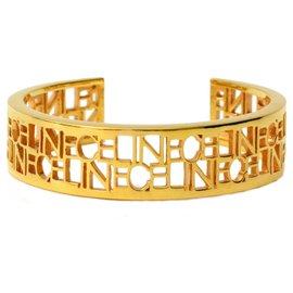 Céline-Bracelet Logo Céline-Doré