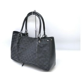Gucci-Sac cabas Gucci Sherry Line GG-Noir
