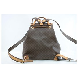 Céline-Céline Macadam Backpack-Brown