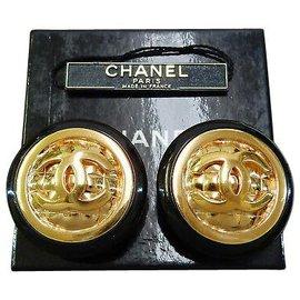 Chanel-Chanel Clip-on Vintage CC-Golden