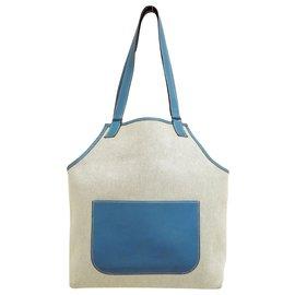 Hermès-Hermès Toile H-Blue