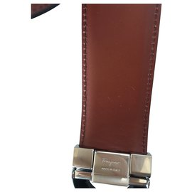 Salvatore Ferragamo-Salvatore Ferragamo Leather belt-Black
