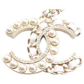 Chanel-Chanel CC Logo Chain-White