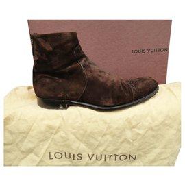 Louis Vuitton-size Louis Vuitton boots 42,5-Dark brown
