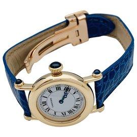 """Cartier-Montre Cartier """"Diabolo"""" en or jaune, cuir.-Autre"""