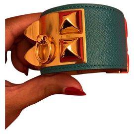 Hermès-Collier de chien-Bleu foncé