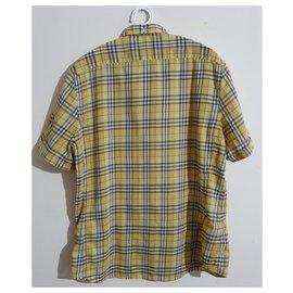 Burberry-chemises-Multicolore,Jaune