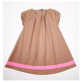 Baby Dior-Dresses-Light brown