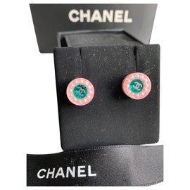 Chanel-Earrings-Pink