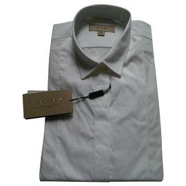 Burberry-Shirts-White
