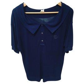 Hermès-Tops-Navy blue