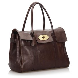 Mulberry-Mulberry Brown Leather Bayswater Handbag-Brown,Dark brown