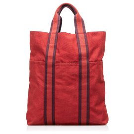 Hermès-Hermes Red Fourre Tout Cabas-Red