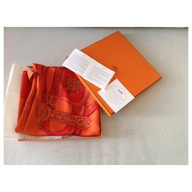 Hermès-BRIDES de GALA-Orange
