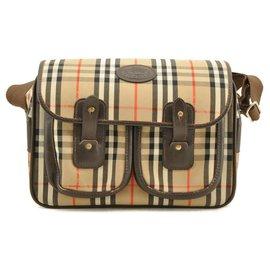 Burberry-Burberry Nova Check Shoulder Bag-Beige