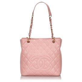 Chanel-Sac Shopping Petite Caviar Rose Chanel-Rose
