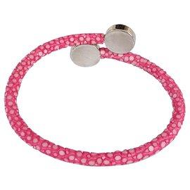 Autre Marque-Bracelet en galuchat rose-Rose