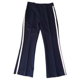 Gucci-Pantalons, leggings-Bleu