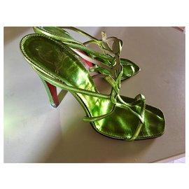 Christian Louboutin-Louboutin sandals-Light green