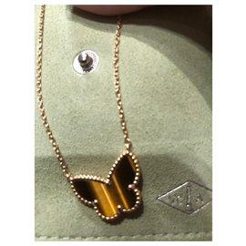 Van Cleef & Arpels-Papillon Alhambra oeil de tigre-Marron clair