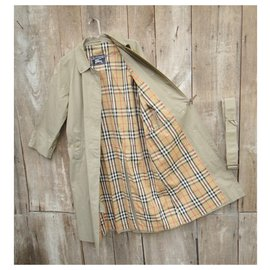 Burberry-Waterproof Burberry Khaki vintage size 38 Perfect condition-Khaki