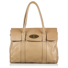 Mulberry-Mulberry Brown Leather Bayswater Handbag-Brown,Beige