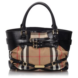 Burberry-Burberry Brown Medium Bridle Landscape Lynher Tote Bag-Brown,Multiple colors