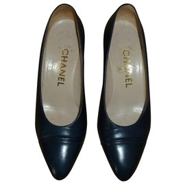 Chanel-Chanel Pumps-Navy blue