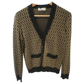 Hermès-Knitwear-Black,Golden