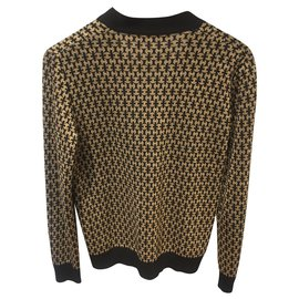 Hermès-Knitwear-Black,Golden