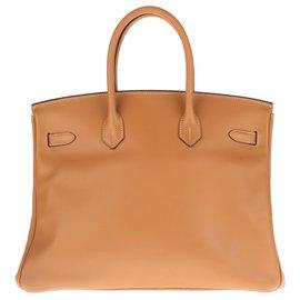 Hermès-Hermès Birkin 35 en cuir Epsom Gold, accastillage en plaqué or, en très bon état !-Doré