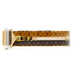 Louis Vuitton-NANOGRAM BELT S-Doré