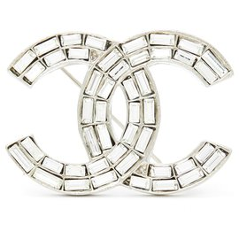 Chanel-LARGE CC CRYSTAL-Silvery