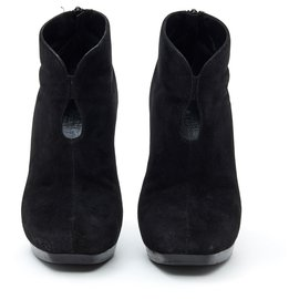Hermès-BLACK SUEDE FR38-Black