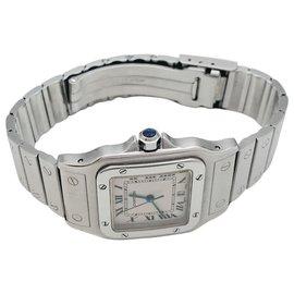"Cartier-Cartier ""Santos Galbée"" watch in steel.-Other"