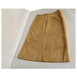 Céline-Celine Leather Skirt-Light brown,Caramel