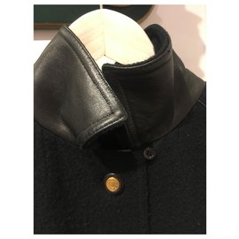 Hermès-Coats, Outerwear-Black